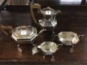 Silver 4 piece tea and coffee service