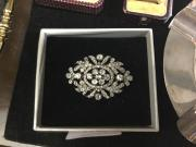 Superb multi diamond brooch